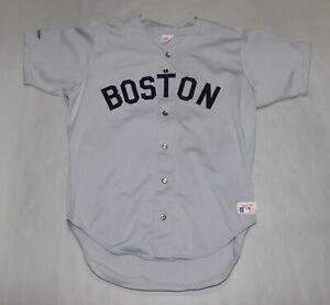 Vintage 1980's Boston Red Sox Rawlings Gray #9 size 46 baseball jersey MLB