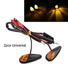 Amber LED Motorcycle Flush Mount Turn Signal Light Lamp Blinker Univeral 12V ES