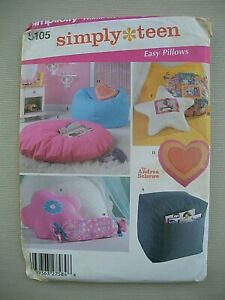 UNCUT Simplicity Sewing Pattern 5105 - Cushions Ottoman Bean Bag