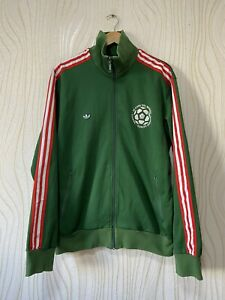 MEXICO 70s FOOTBALL SOCCER TRACK TOP JACKET RETRO ADIDAS 556267 sz XL