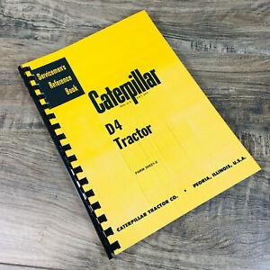CATERPILLAR D4 CRAWLER TRACTOR SERVICE MANUAL REPAIR SHOP BOOK 6U 7U 4G 7J 2T 5T