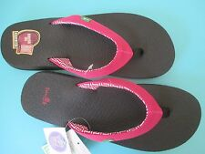NEW sanuk 7.5 8 39 SANDALS FLIP FLOP SHOES YOGA MAT SOLE Serenity 4 Pink