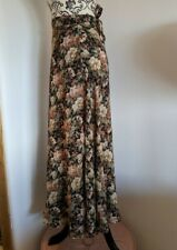 Vintage 80s 90s floral Wrap Skirt Express Small Preppy Grunge Maxi Long boho