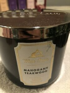 Bath And Body Works Candle- 3 Wick - New - Mahogany Teakwood