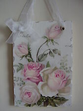 Vintage shabby chic picture plaque Lovely Hand Made Gift Wrapped !
