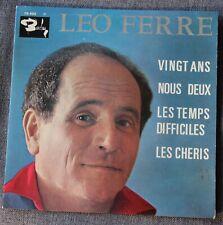 Leo Ferre, vingt ans + 3, EP - 45 tours
