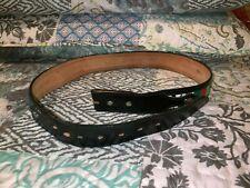 Circle Y Yoakum TX Colorful Leather Conchos UNISEX Belt Sz 38  MADE IN USA NWT