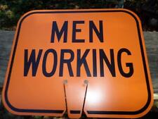 """12 3/4 X 10 1/2"""" Plastic Men Working Traffic Cone Sign - Arrow Sign Co. Man Cave"""