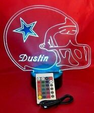 Dallas Cowboys Light Up Light Lamp LED With Remote and Personalized Lamp