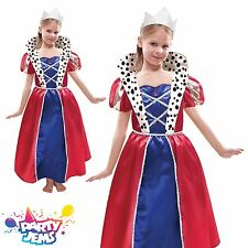 Girls Queen Fancy Dress Costume & Tiara 6-8 Yrs Child Infant Outfit