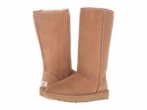 Women's Shoes UGG CLASSIC TALL II Slip On Sheepskin Boots 1016224 CHESTNUT