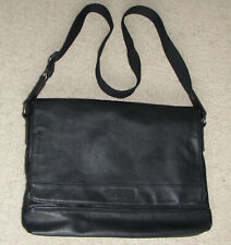 Kenneth Cole Reaction Men's Pebbled Messenger Leather Bag Carry Shoulder Bag Men