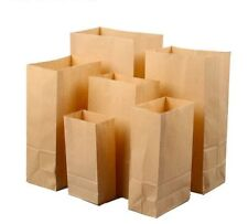 Kraft Paper Bag Candy Cookie DIY Gifts Bags For Birdhday Christmas Favors 100Pcs