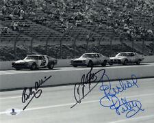 BOBBY ALLISON & AJ FOYT & RICHARD PETTY SIGNED 8x10 PHOTO RARE BECKETT BAS LOA