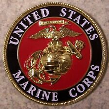 Military Medallion U S Marine Corps metal NEW wall or shadow box mount