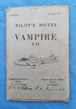 Post-ww2 RAF Vampire T11 pilots notes