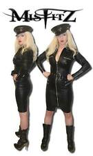 Misfitz black leather look zip military style dress.Sizes 8-32 /made to measure
