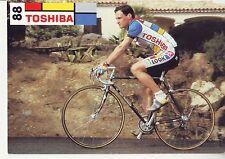 CYCLISME  carte cycliste CHRISTIAN JOURDAN équipe TOSHIBA 1988