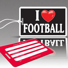 TagCrazy Fun Luggage Tags, I Heart Football, Durable Plastic Loops, 1 Pack