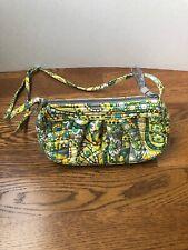 Vera Bradley Green Frannie Paisley Crossover Crossbody Small Handbag Purse