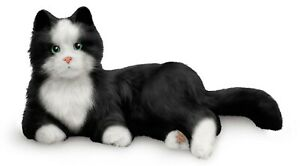 Joy for All Interactive Robotic Pet For The Elderly - Black and White Cat