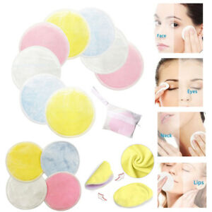 1-20x Reusable Makeup Remover Pads Face Wipes Facial Cleansing Pad Bamboo Cotton