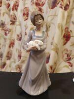 "Vintage Nao Lladro ""Girl with Rabbit"" Figurine 1991"