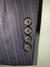 RECENT Modern Hickey Freeman Mens Size 42L Black & Blue Blazer Suit Jacket EUC
