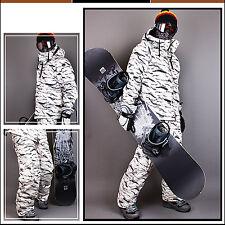 Southplay Mens Winter Premium White Camo Military Ski-Snowboard Jacket Or Pants