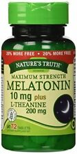 4 Pack Natures Truth Maximum Strength Melatonin 10mg L Theanine Capsules 72 Each