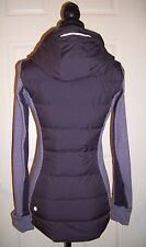 Lululemon Fluff Off Hooded Jacket Down Zinfandel Purple Pullover Size 4