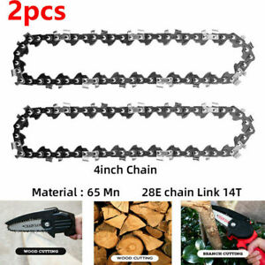 2pcs Replacement Chainsaw Chain for 4 inch Cordless Electric Mini Chain Saw