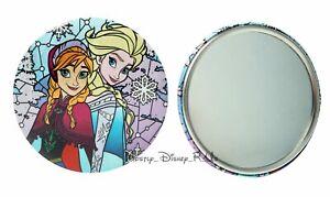 "Disney Frozen Elsa and Anna Sisters Art Design Compact 3"" Button Pocket Mirror"