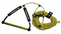 Airhead Wakeboard Trick Handle & Waterski Rope 4 Section 70' c/w rope tidy