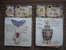 Provo Craft Pin It Up Wood Jewelry Making Pin Kit - Lot of 2