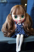 """12"""" Neo Blythe Doll From Factory Brown Hair With Bang Jointed Body Nude Doll"""