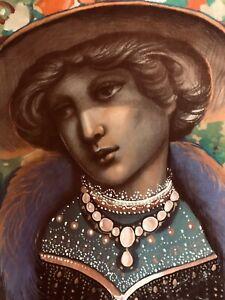 "Vintage JOSEF M. KOZAK Painting ""FINE LADY"" Original Work of Art Unframed Signed"