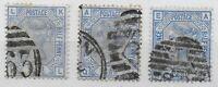 SG157.  2&1/2d.Blue - Plates 21,22 & 23 Good/Fine Used. Cat.£112.   Ref:03192