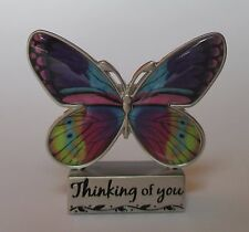 v Thinking of you BUTTERFLY BLESSINGS FIGURINE ganz sympathy concern hard times