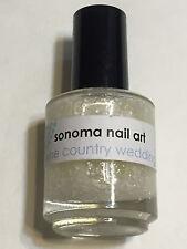 SONOMA NAIL ART POLISH WINE COUNTRY WEDDING WHITE GLITTER LACQUER ENAMEL INDIE