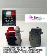 Motoriduttore stufa carico pellets 12 RPM KENTA K911 7304 orario originale