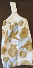 New listing Free Shipping Crochet Topped Sea Shells Terry Kitchen Towel