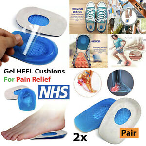 Silicone Orthotic Insole Arch Heel Support Plantar Care Shoe Insert Gel Cushions