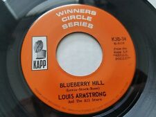 """LOUIS ARMSTRONG - Blueberry Hill / Moon River 7"""" JAZZ POP Kapp (NM-)"""