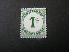 GIBRALTAR, SCOTT # J1, 1p. VALUE 1956 POSTAGE DUE ISSUE MVLH
