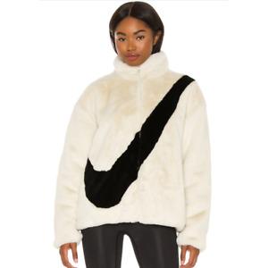 Nike Sportswear NSW Plush Faux Fur Teddy Sherpa Jacket 'Fossil' CU6558-238 S