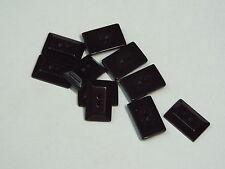5pc 26mm Rectangle Chunky Black Jewel cut stone effect 2 hole Toggle Button 2506