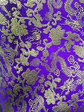 PURPLE GOLD METALLIC CHINESE BROCADE FABRIC (60 in.) Sold By The Yard