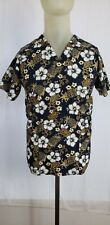 New listing Medgear Scrub Top Tropical Floral Themed 2 Pockets Size Small Pre-Owned