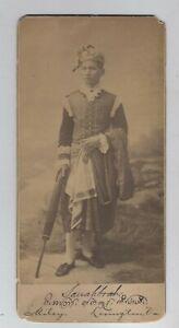 ORIGINAL INDIAN AMERICAN SIGNED BURMESE SAUAHBRAH CABINET CARD AUTOGRAPH VINTAGE